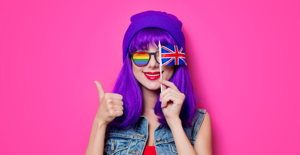 Colorful girl representing LGBT dating